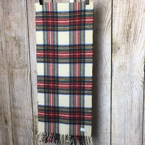 Vintage Benetton Italy wool plaid scarf
